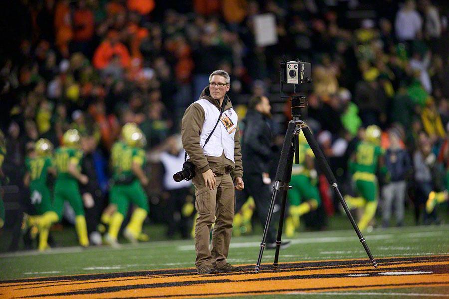 Jim Blakeway, capturing a gigapixel at an event.