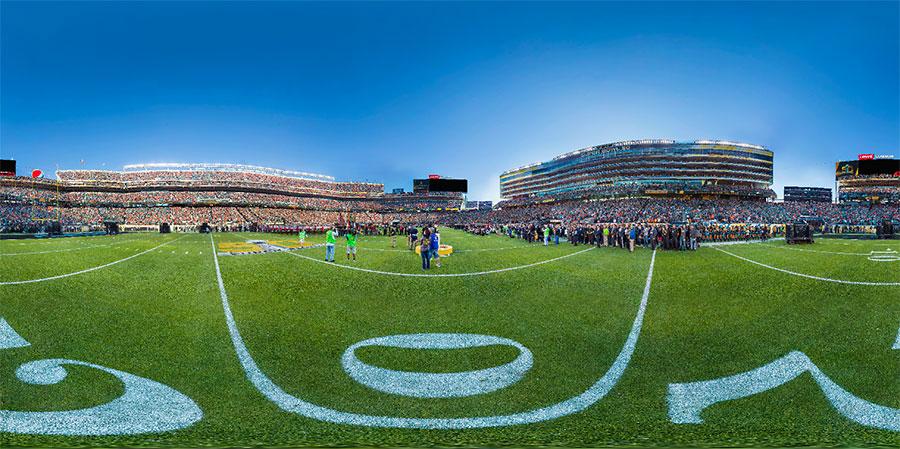 A 360° gigapixel taken at Super Bowl 50.
